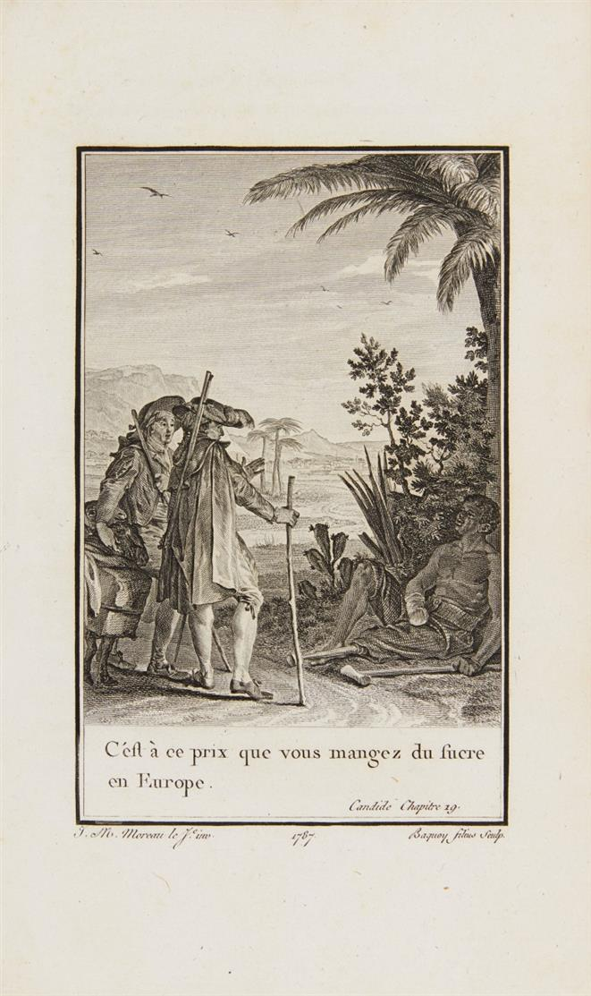Voltaire, Oeuvres complètes. 70 Bde. [Kehl] 1784-89.