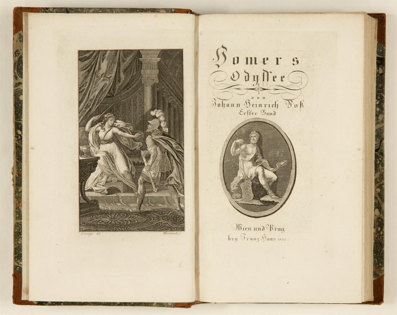 Homer, Ilias / Odyssee. 4 Bde. Wien u. Prag 1800.