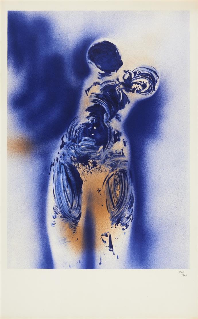 Yves Klein (nach). Anthropométrie ANT 7. Farblithographie. Ex. 150/200.