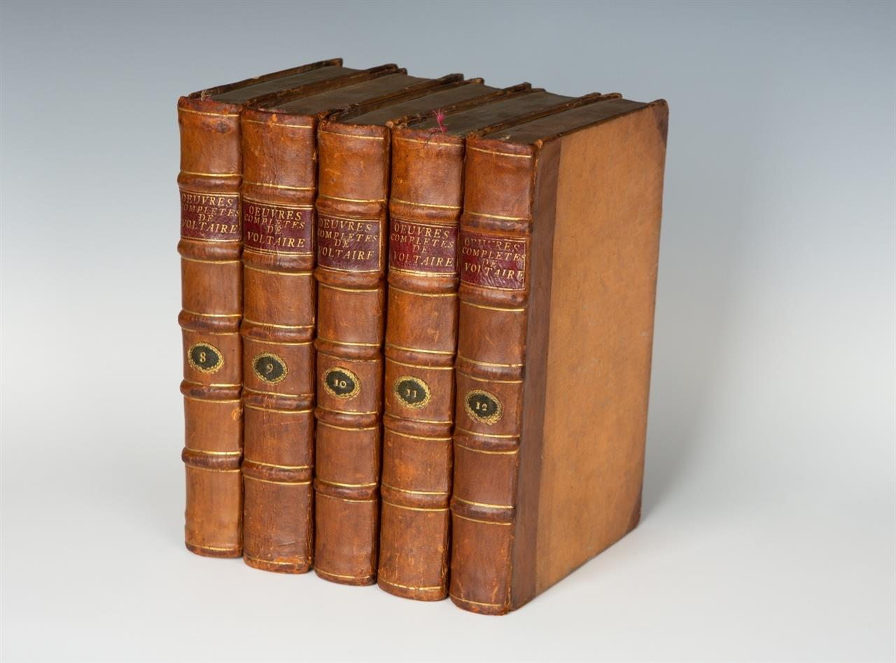 Voltaire, Oeuvres complètes. 71 Bände. 1784-90.