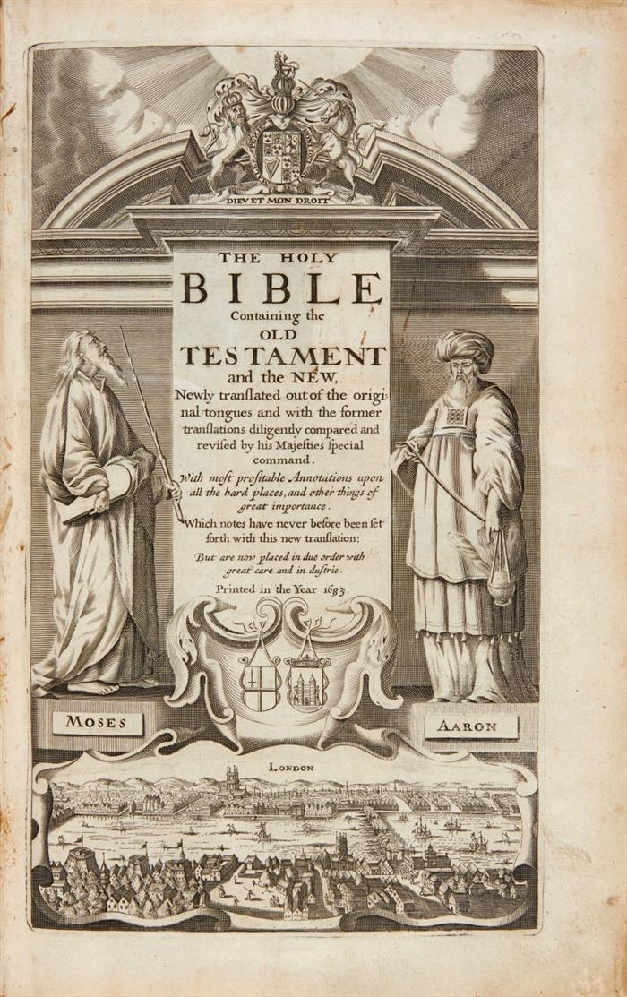 The Holy Bible containing the Old Testament and the New. 2 in 1 Bd. Amsterdam 1683.