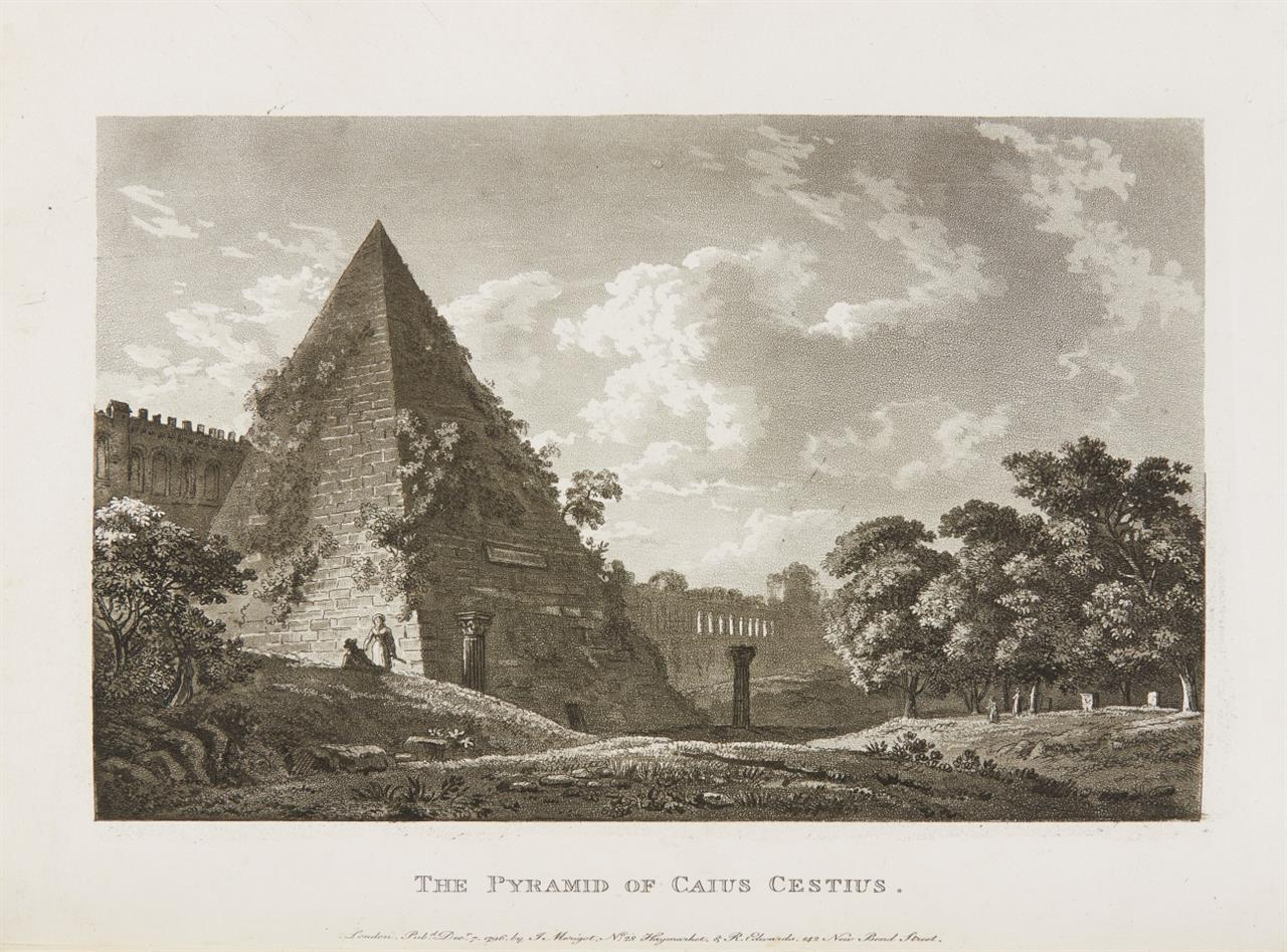 J. Merigot, A select collection of views and ruins in Rome and its vicinity. 2 Tle. in 1 Bd. London 1797-99.