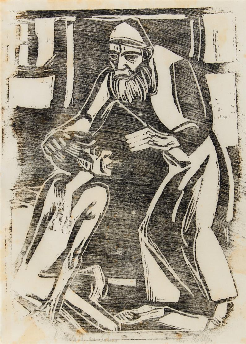 Christian Rohlfs. Rückkehr des verlorenen Sohnes. 1916. Holzschnitt. Signiert. Utermann 139.