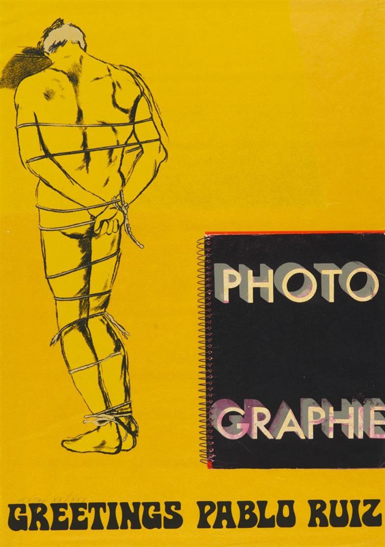 Ronald Brooks Kitaj. Greetings Pablo Ruiz (aus: Hommage à Picasso). 1973. Farbserigraphie. Signiert. Ex. XX/XXX.