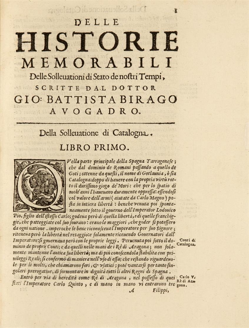 G. B. Birago, Delle historie memorabili. Venedig 1653.