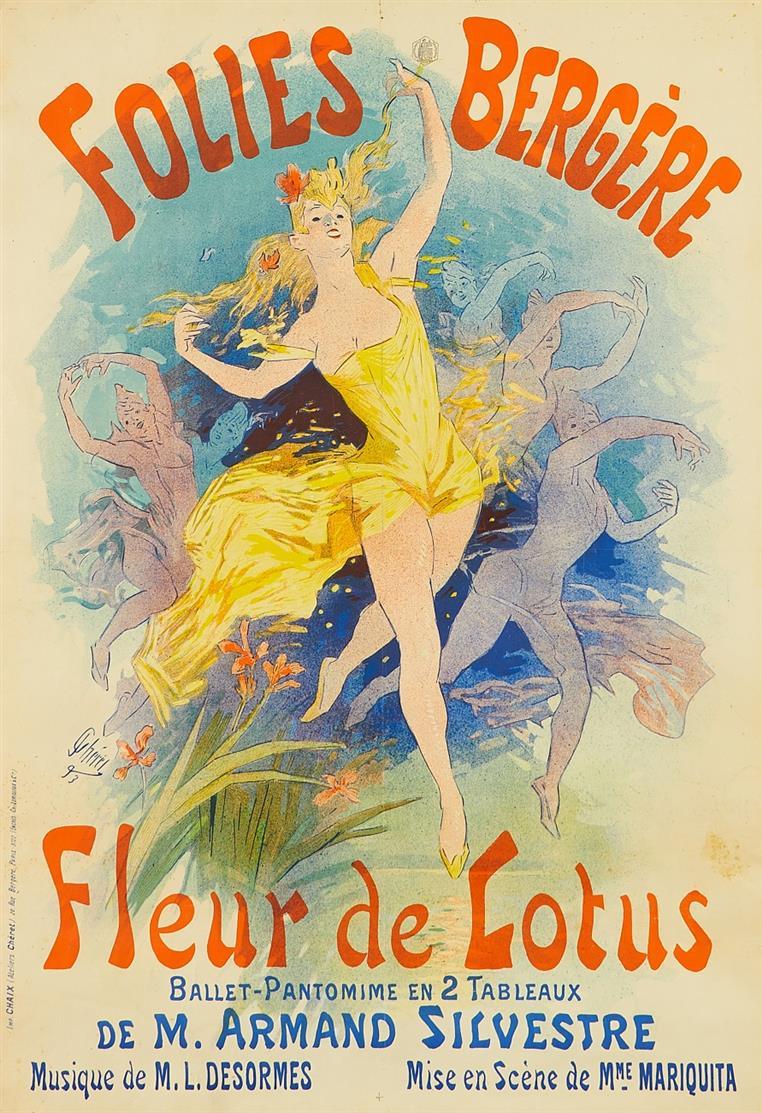 Jules Chéret. Folies Bergère. 1893. Farblithographie. Plakat.