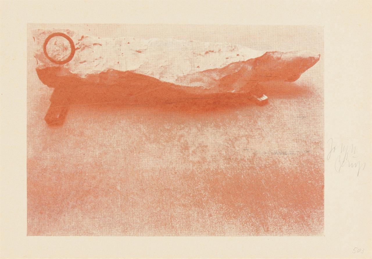 Joseph Beuys. Ein-Stein-Zeit. 1984. Siebdruck. Signiert. 1 v. 20 nicht nummerierten Ex. Schellmann 503 B.