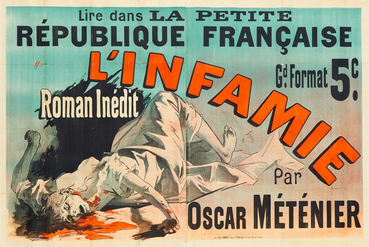 Jules Chéret. L'Infame. 1890. Plakat. Farblithographie.