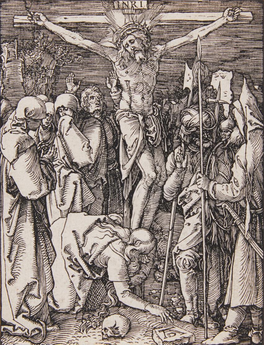 A. Dürer. Christus am Kreuz. 1509-11. Holzschnitt. Bartsch 40; Meder 149.