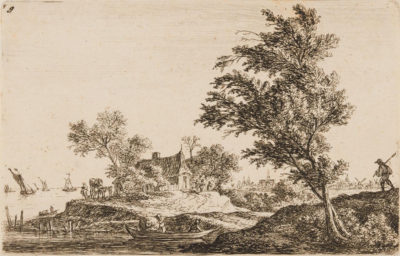 Antoni Waterloo. Zwölf Landschaften. 12 Blatt Radierungen. Hollstein 21 – 32.