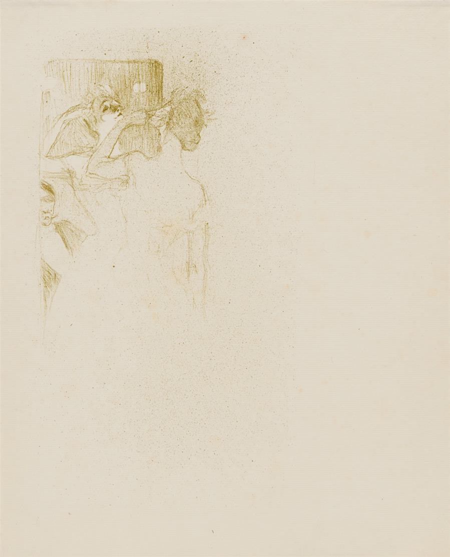 Henri de Toulouse-Lautrec. Yvette Guilbert. 1894. Lithographie in Olivgrün. D. 92 I (von II).