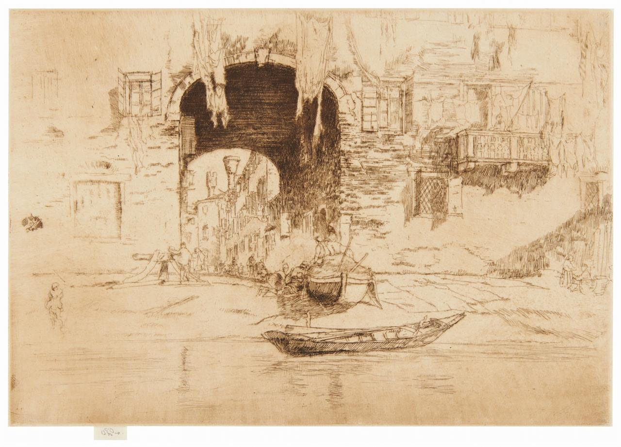 James Abbott McNeill Whistler. San Biagio. Um 1880. Radierung. Kennedy 197.
