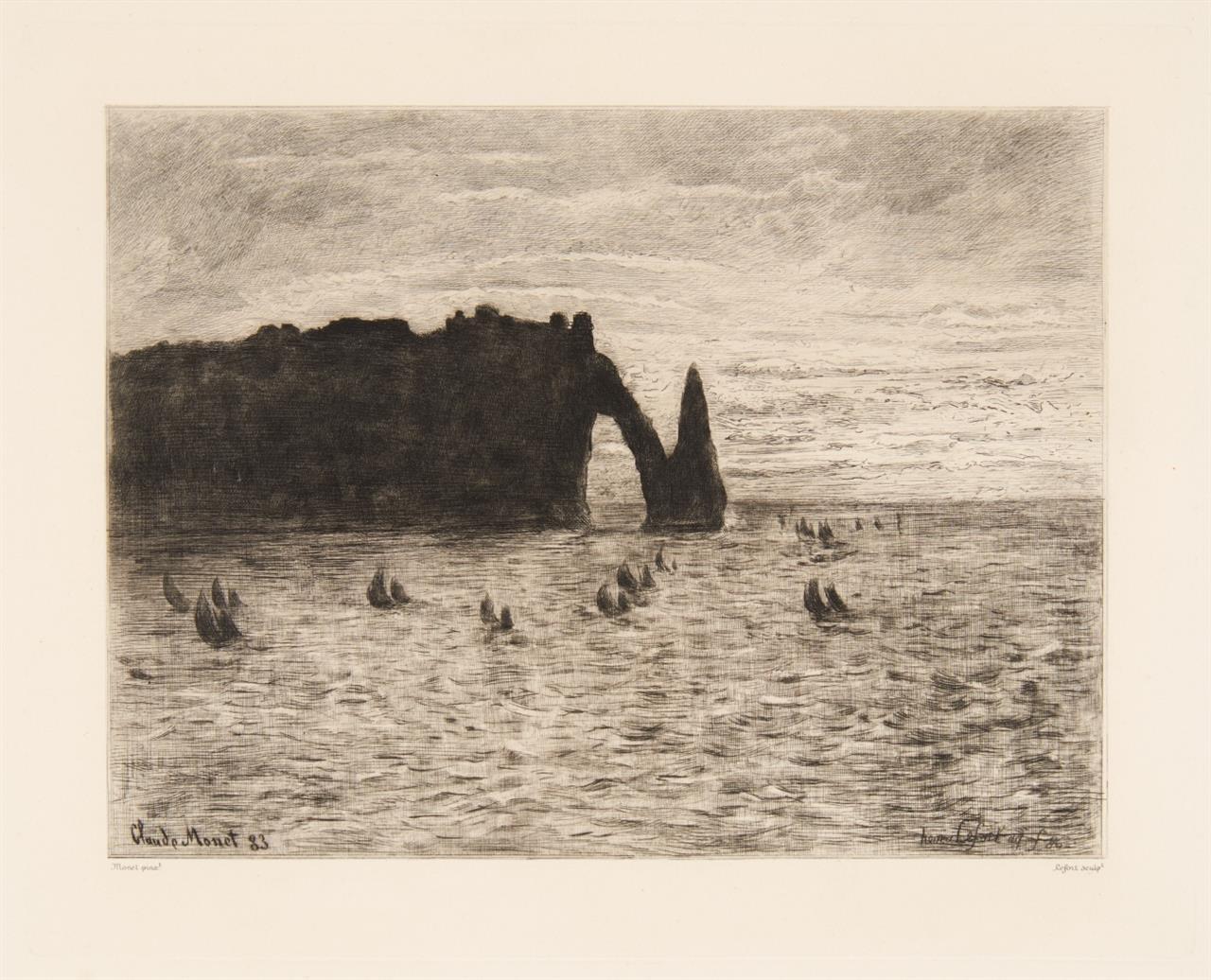 Claude Monet, nach. Le Rocher de Lion. 1883. Radierung von Henri Lefort.