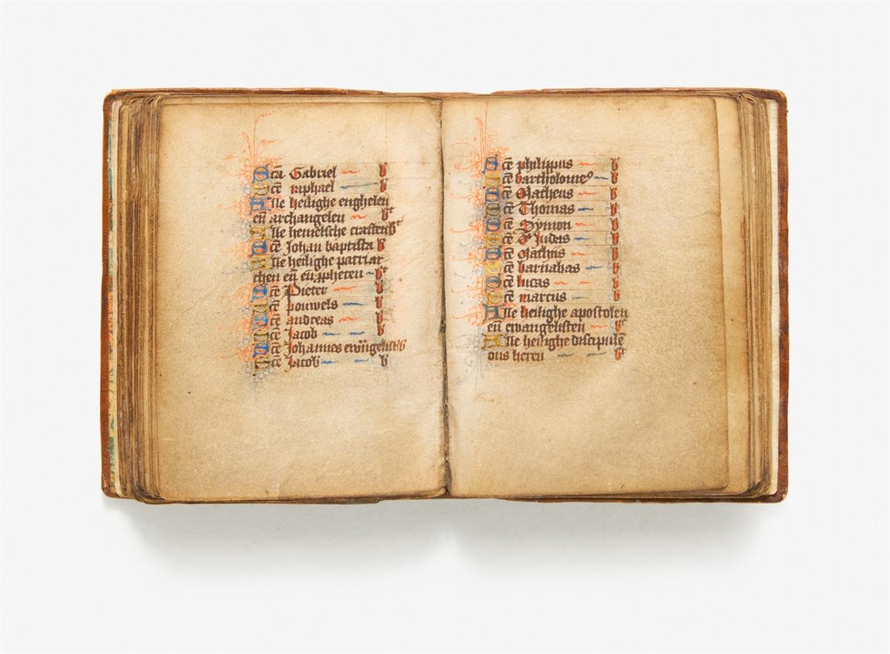 Getijdenboek. - Niederländisches Stundenbuch. Handschrift auf Pergament. Nördl. Niederlande, 1. Hälfte des 15. Jhs.