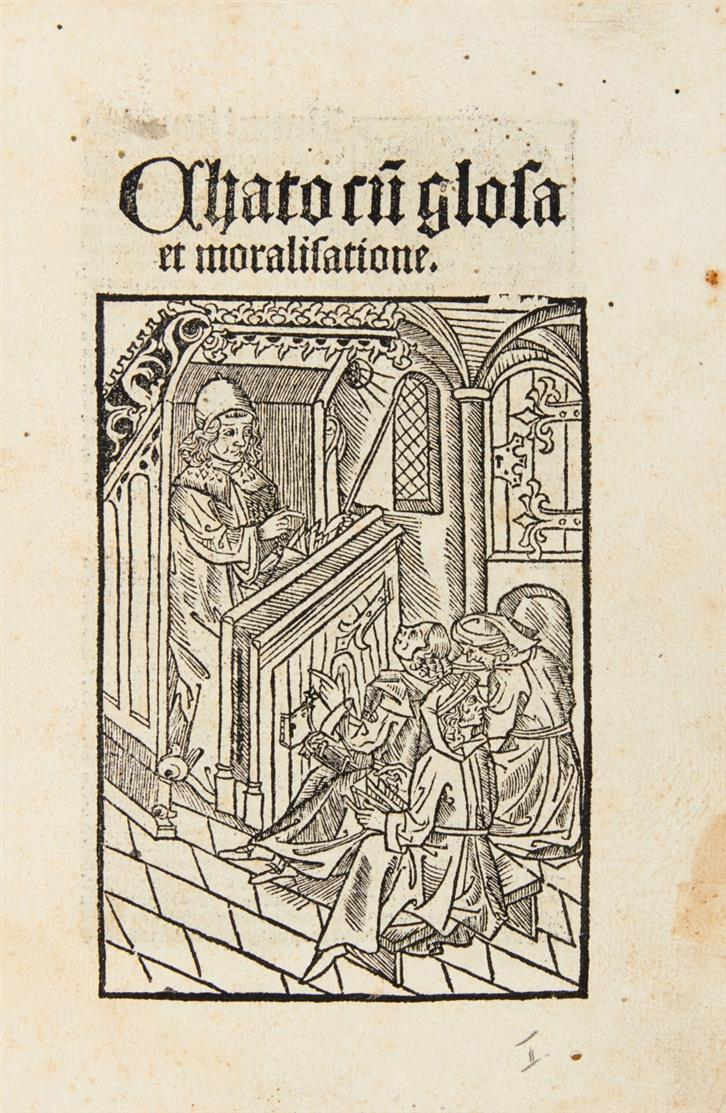 M. P. Cato. - Chato cum glosa et moralisatione. Köln 1501.