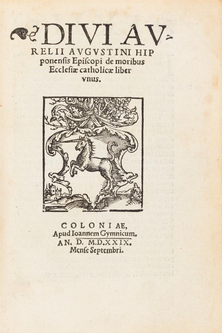 A. Augustinus. Sammelband mit 4 Werken. Köln 1529-1530.