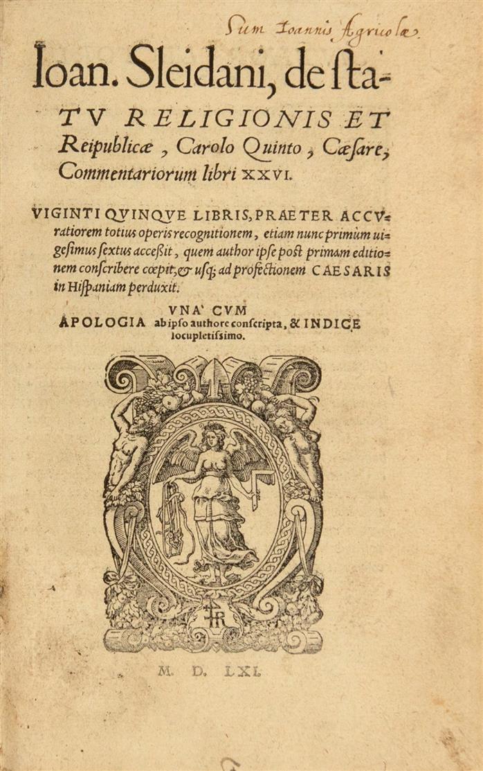 J. Sleidanus, De statu religionis et reipublicae. Straßburg 1561.