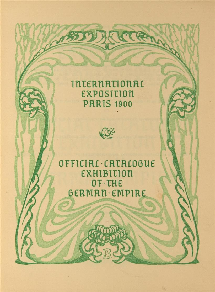 International Exposition Paris 1900. Official Catalogue Exhibition of the German Empire. Illustr. v. B. Pankok. Bln. 1900.