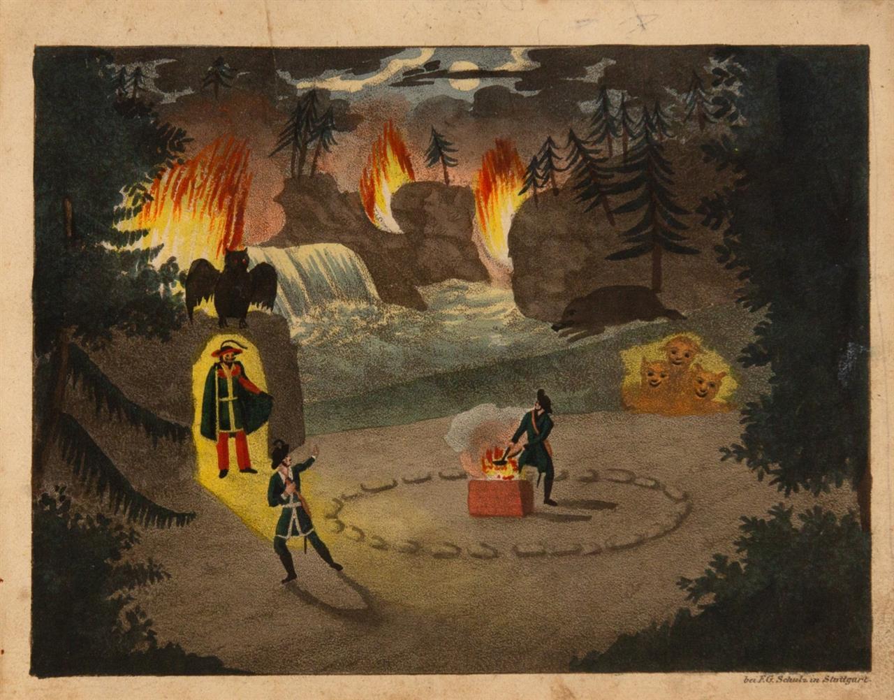 C. M. v. Weber, Der Freischütz. Oper in drei Aufzügen. Libretto u. Stimmen. Stgt., um 1822.