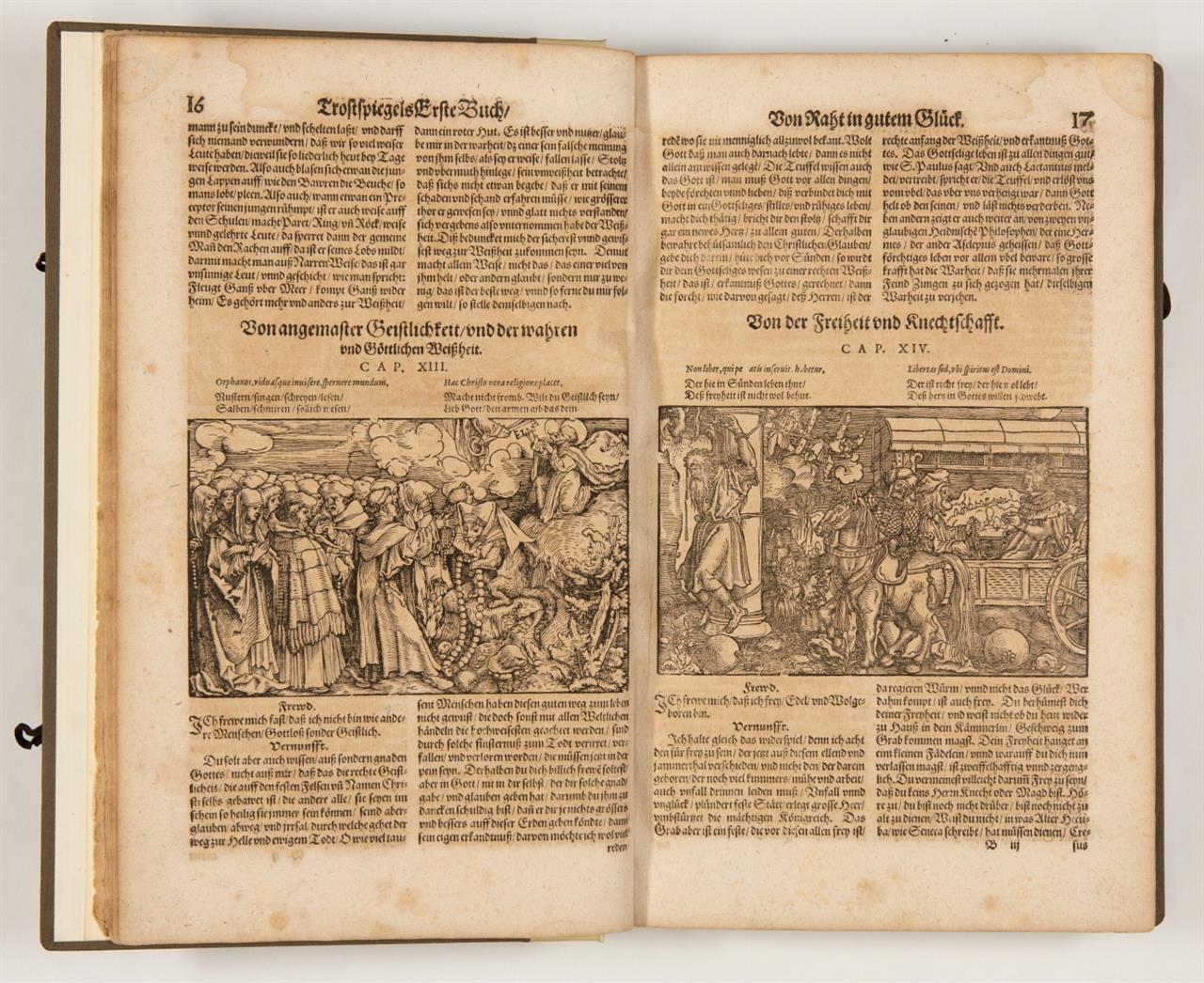 F. Petrarca, Trostspiegel in Glück und Unglück. Frankfurt a. M. 1620.