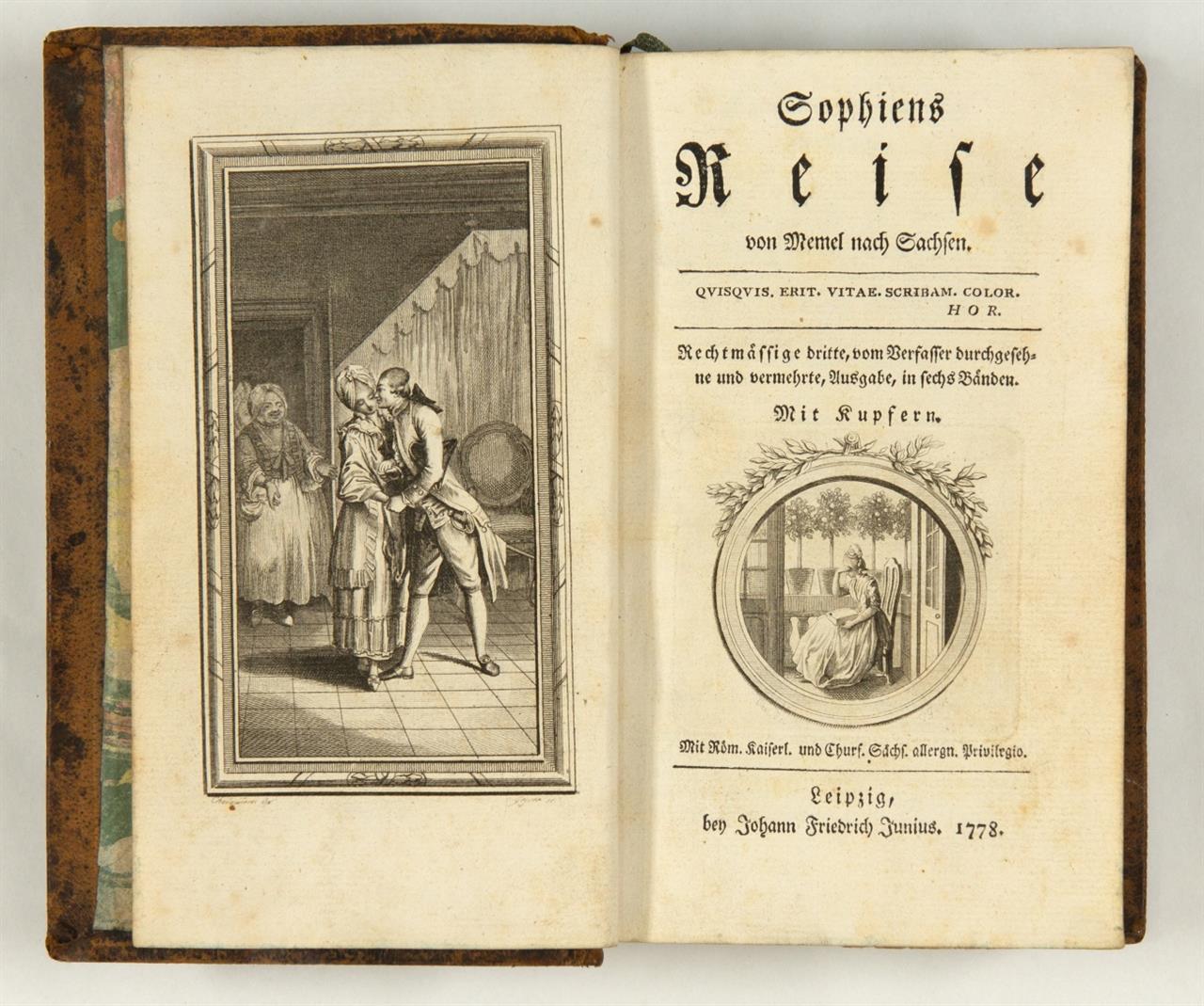 J. T. Hermes, Sophiens Reise von Memel nach Sachsen. 3. verm. Ausg. 6 Bde. Leipzig 1778.
