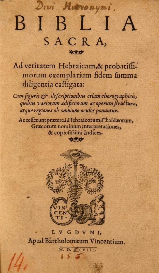 Biblia sacra. Lyon 1568.