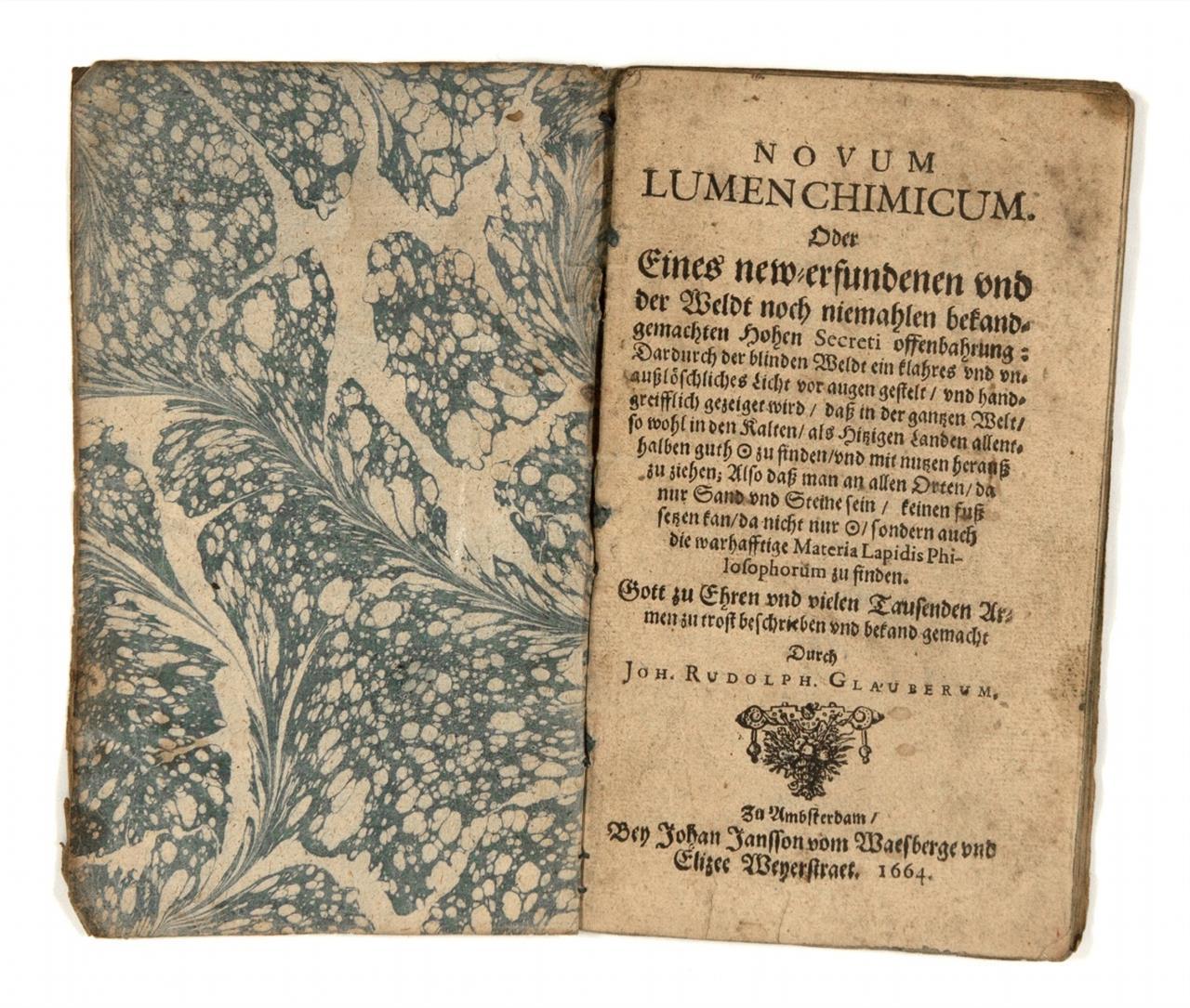 J. R. Glauber, Novum lumen chimicum. Amsterdam 1664.