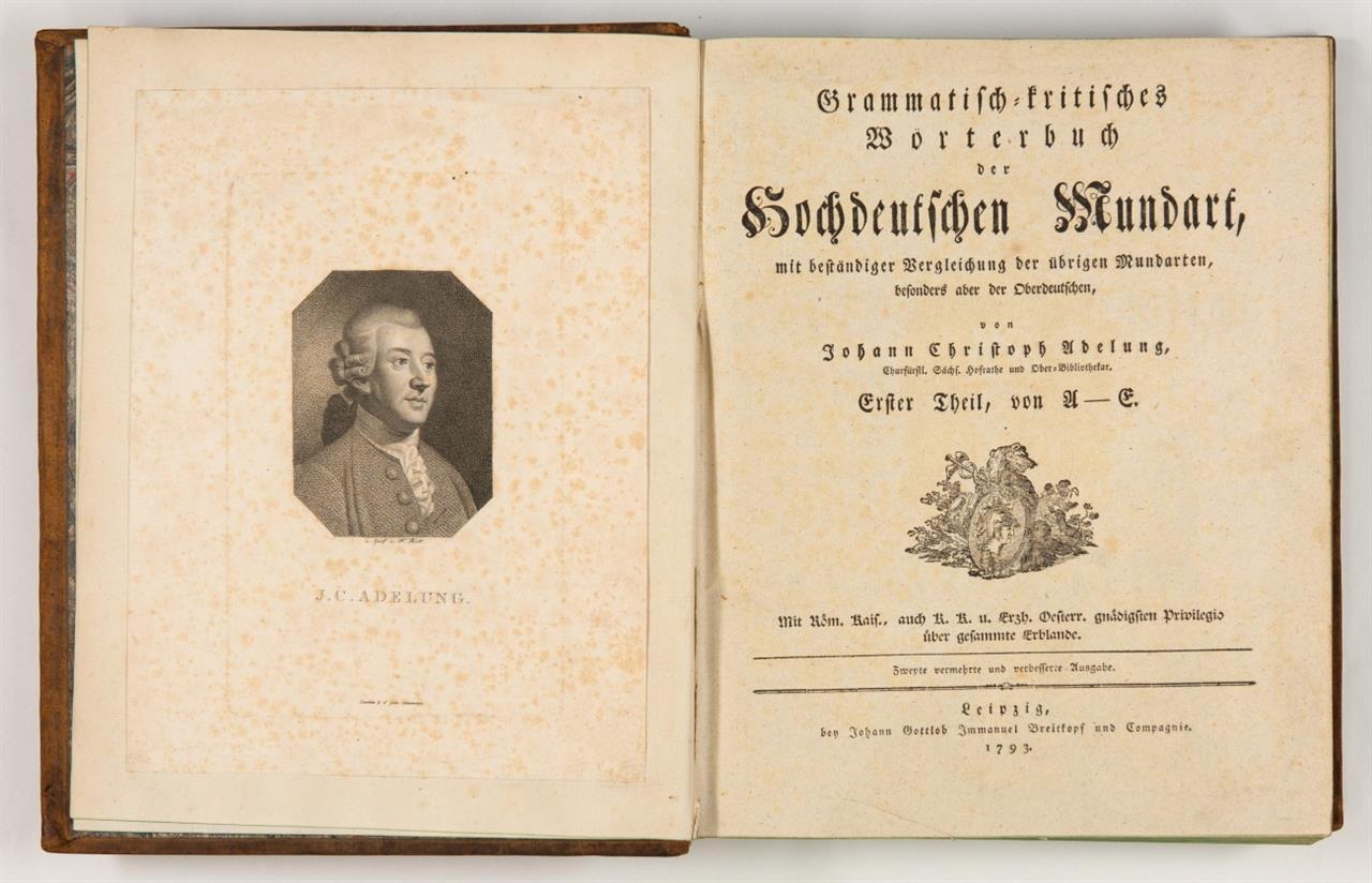 J. C. Adelung, Grammatisch-kritisches Wörterbuch der hochdeutschen Mundart. 4 Bde. Lpz. 1793-1801.