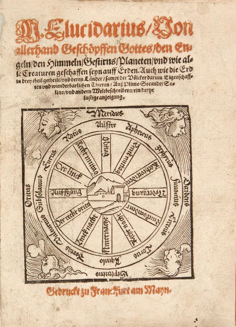 M. Elucidarius. Von allerhand Geschöpffen Gottes... Frankfurt a. M., um 1563