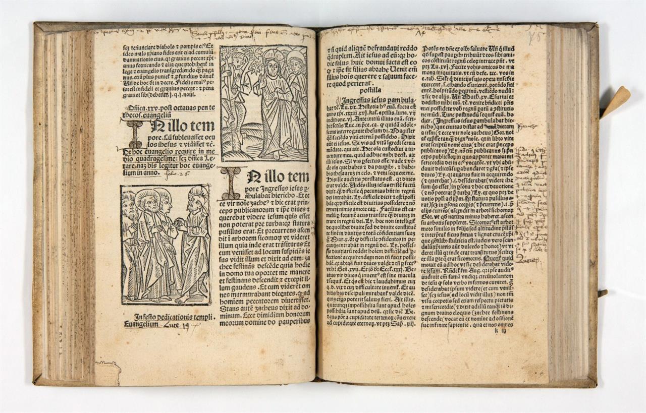 Guilelmus Parisiensis, Postilla super epistolas et evangelia. Augsburg 1495.