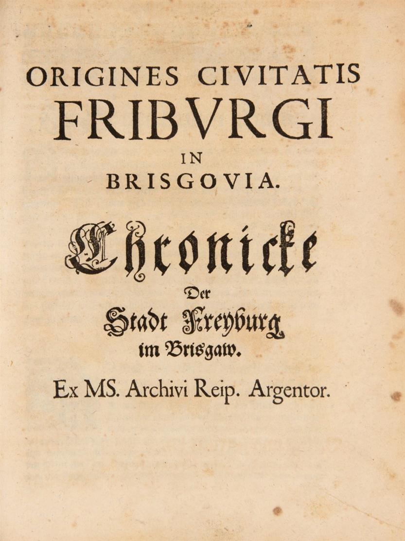 J. Twinger von Königshoven, Die alteste teutsche ... Elsassische und Straßburgische Chronicke ... Hrsg v. Joh. Schilter. Straßburg 1698.