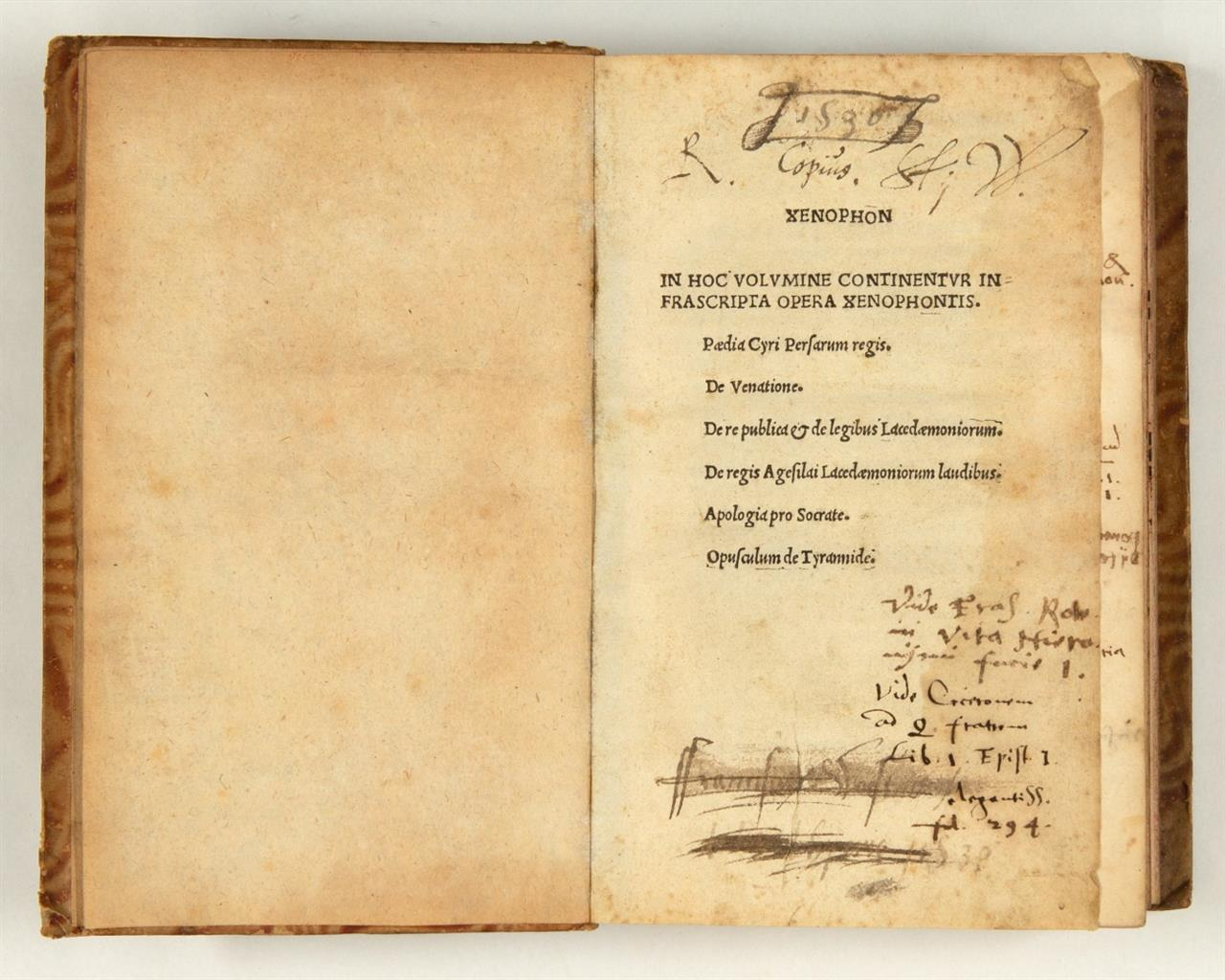 Xenophon, Pædia Cyri ... De venatione etc.  Ed. F. Beroaldo. o.O. u. J. (Lyon, um 1504).