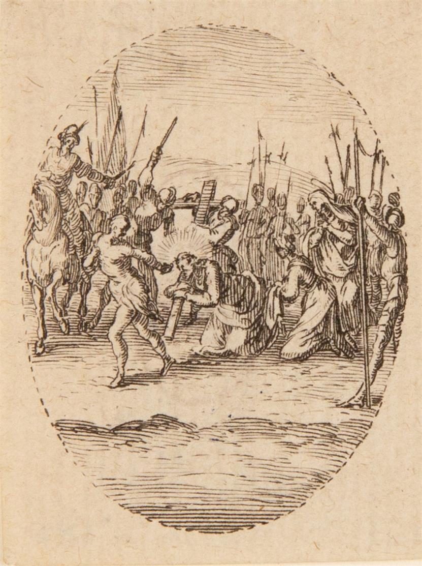 Jacques Callot. Les Mystères de la Passion. Um 1631, 22 Medaillons auf 16 Bl. Radierungen.