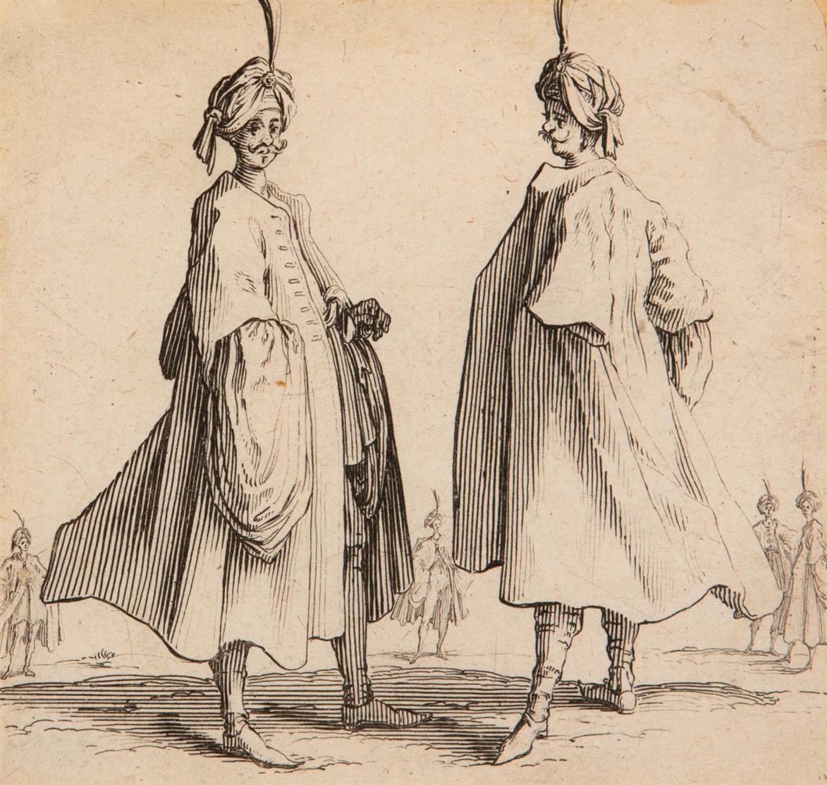 Jacques Callot. Varie Figure di Iacopo Callot. um 1617. 16 Blatt Radierungen. M.730 - 746.