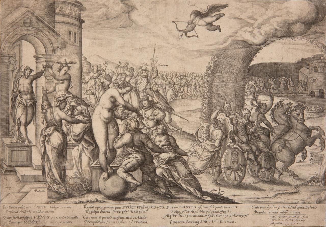 Matthäus Greuter. Die Macht der Venus. Kupferstich. H. 213, I (von II).