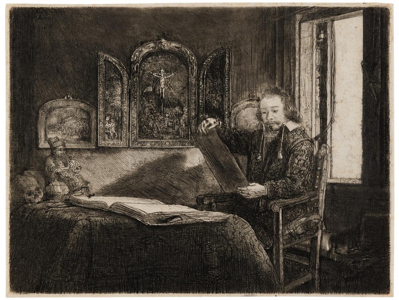 Rembrandt. Abraham Francen. Um 1657. Radierung. NH 301 X (von XII), B. 273.