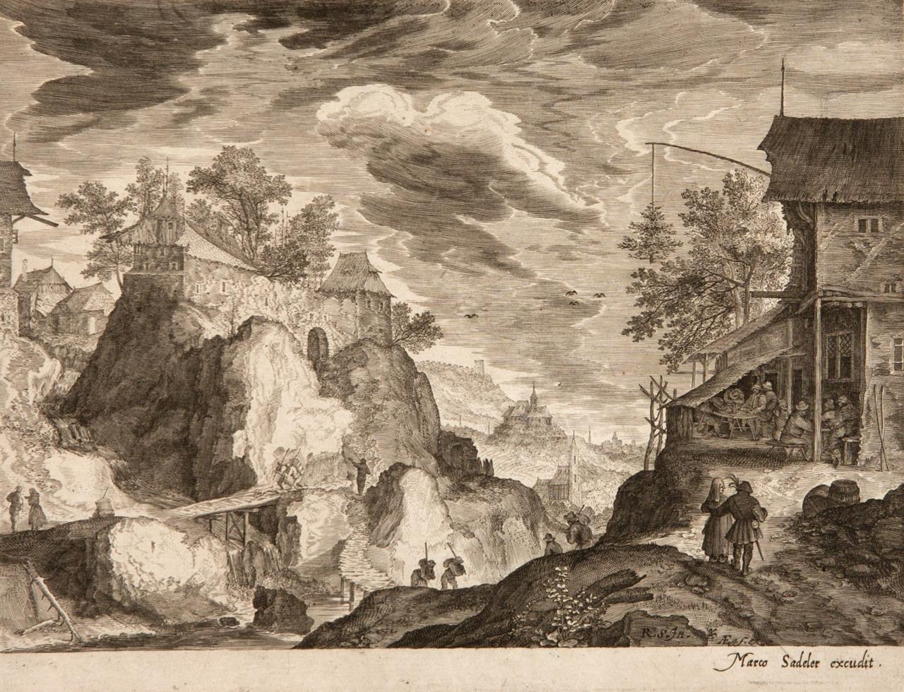 Aegidius Sadeler. Fünf Tiroler Landschaften. 1609. 5 Blatt Kupferstiche. H. 225, 227, 228, 229, 230