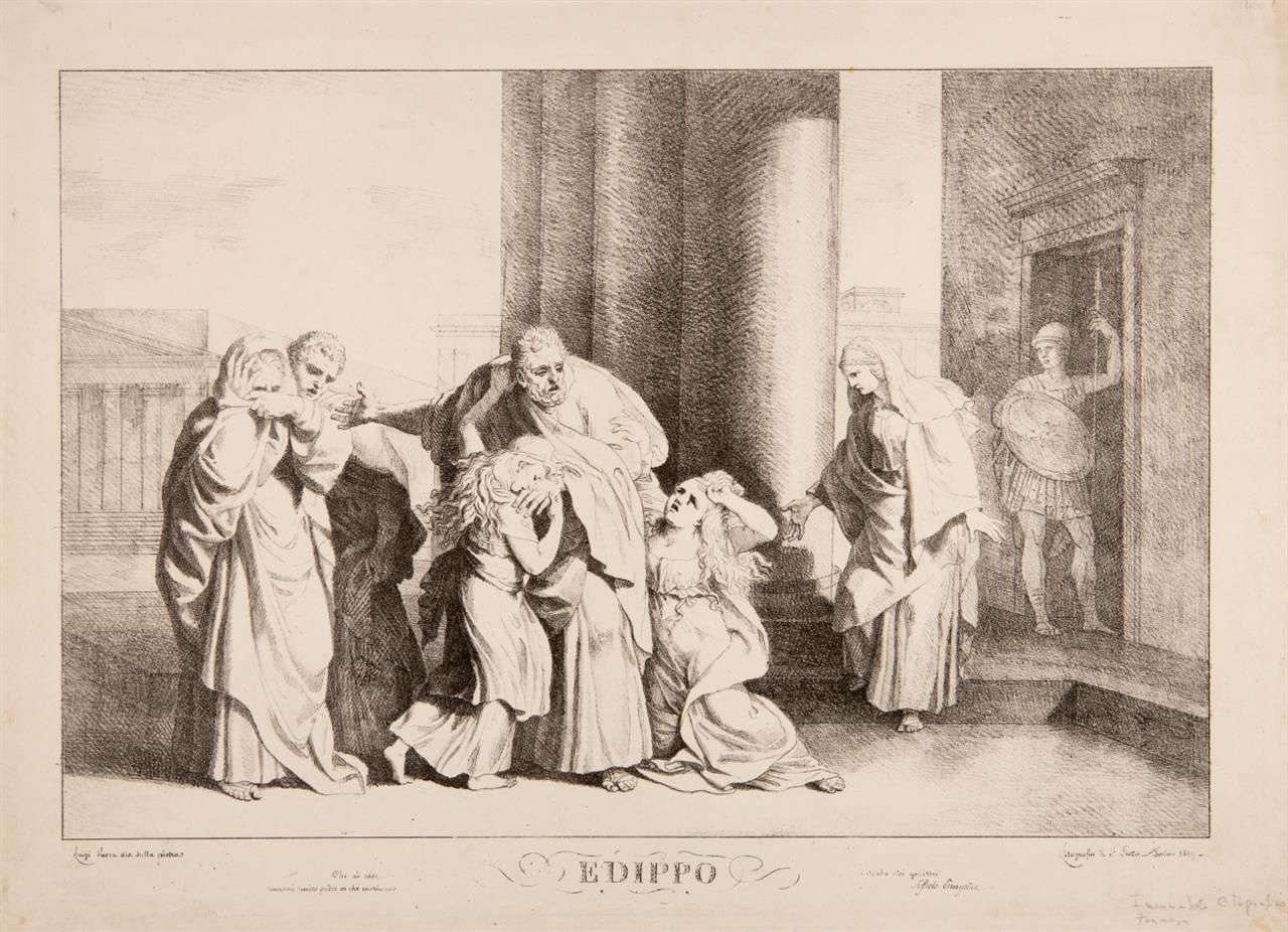 Luigi Vacca. Edippo. 1819. Lithographie.