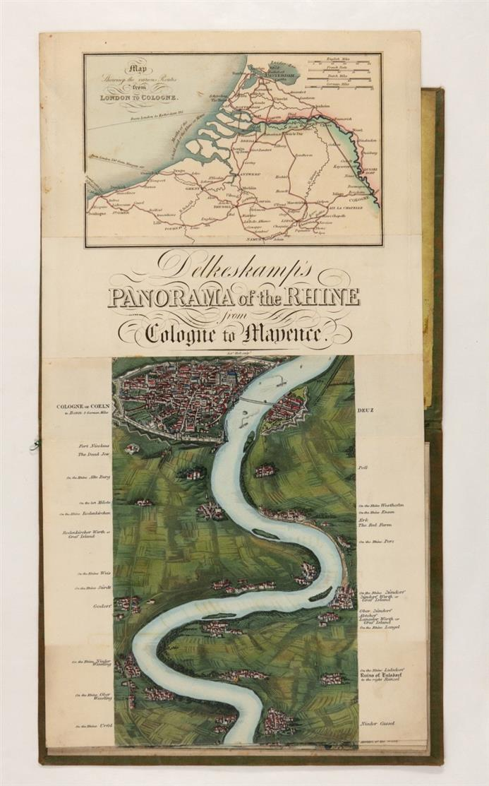 F. W. Delkeskamp, Panorama of the Rhine from Cologne to Mayence. Koloriertes Leporello. Ldn., um 1832.