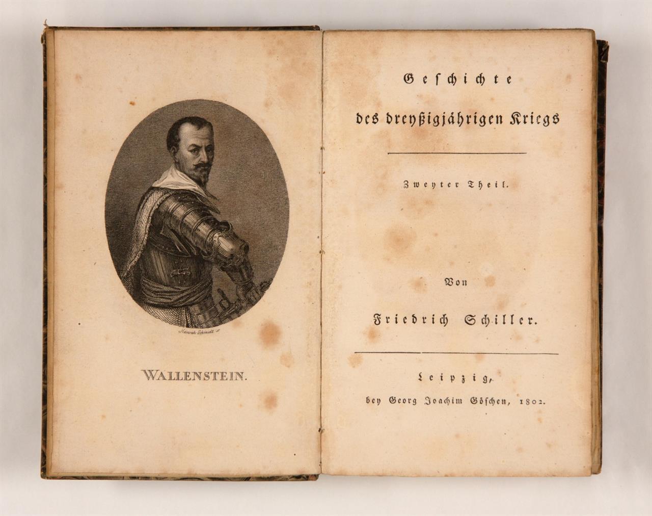 F. Schiller, Geschichte des dreißigjährigen Krieges. 2 Bde. Lpz. 1802.