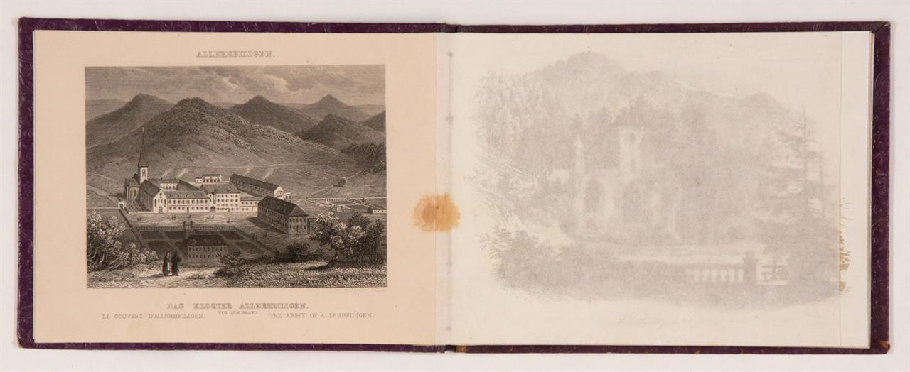 C. Frommel / F. Würthle, Allerheiligen und seine Wasserfälle im Grossherzogtum Baden. Karlsruhe, um 1820.