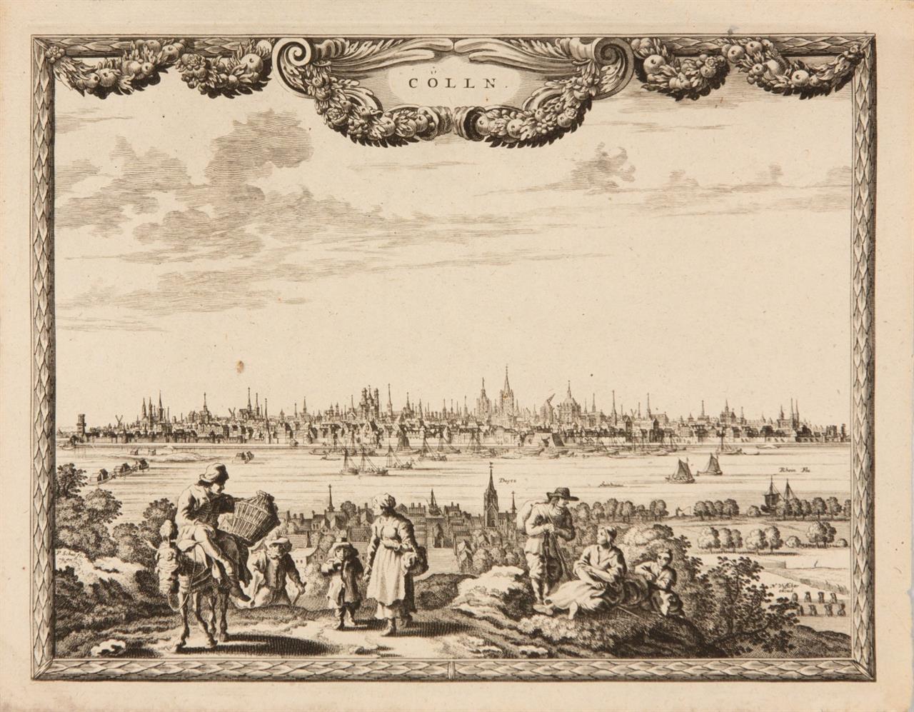 Köln. Cölln. Gesamtansicht. Um 1660. Kupferstich von Pieter Schut, bei Nicolas Visscher. Sievers 56.