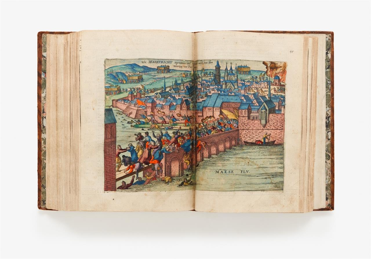 M. v. Aitzing, De Leone Belgico. Köln 1583. - Koloriertes Exemplar.