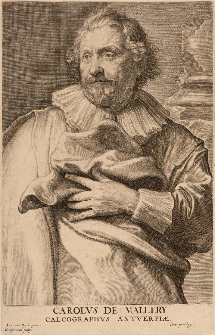 A. van Dyck.10 Blatt Porträts. Kupferstiche.