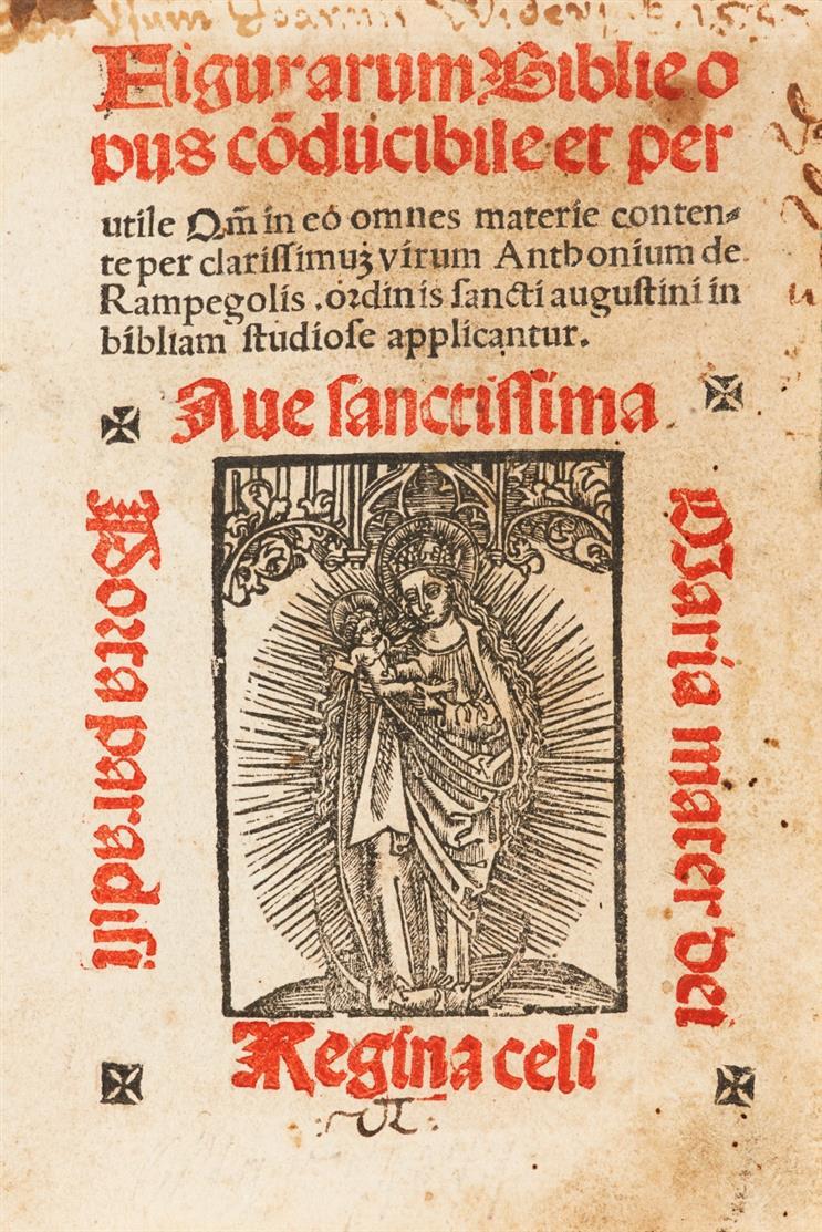 Antonius Rampigollis, Figurarum Biblie opus coducibile et per utile ... Köln 1511.