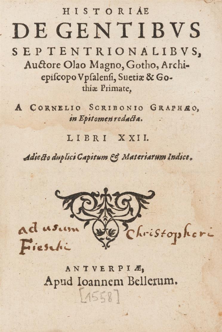 O. Magnus, Historia de gentibus septentrionalibus. Antwerpen 1558.