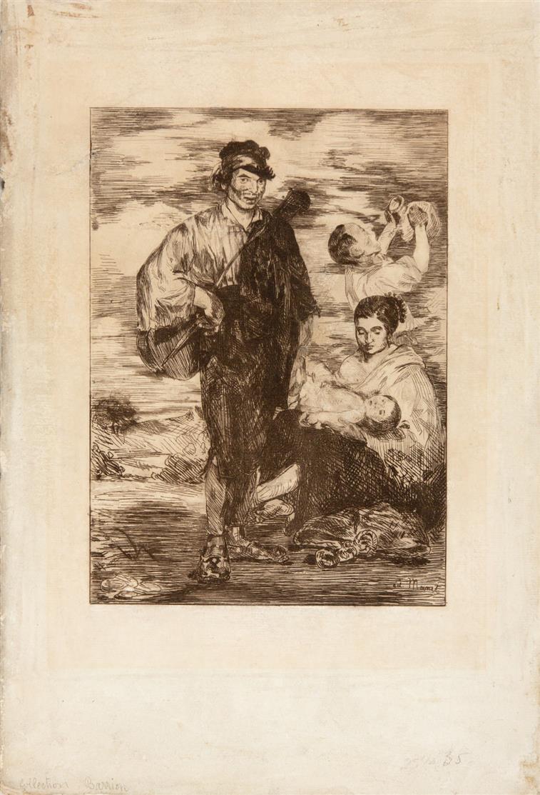 Edouard Manet. Les Gitanos. 1862. Radierung. G. 21 ; H. 18.