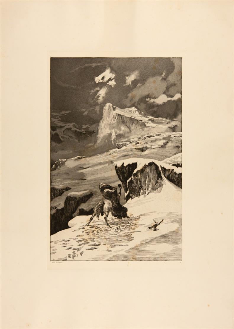 Max Klinger. Intermezzi. (1881). Mappenwerk mit 12 Blatt Aquatinta-Radierungen. Singer 52-63.