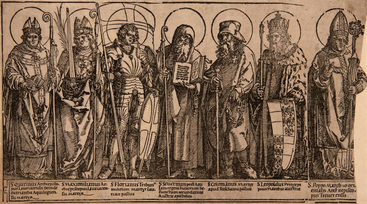 Albrecht Dürer. Die Schutzheiligen von Österreich. 1513/17. Holzschnitt. M. 219 II e; B. 116.