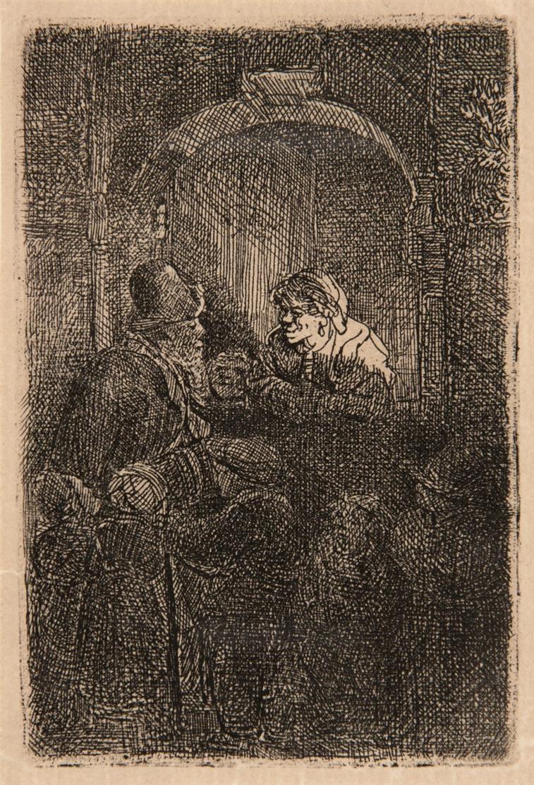Rembrandt. Der Schulmeister. 1641. Radierung. NH 191 IV; B. 128.